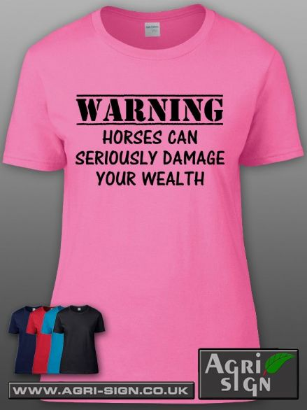 Womens Premium T Shirt - WARNING Horses